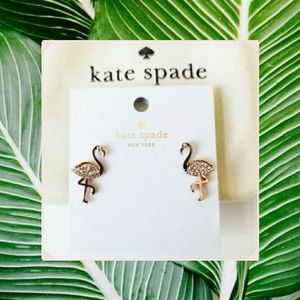 Flamingo earrings   Kate Spade